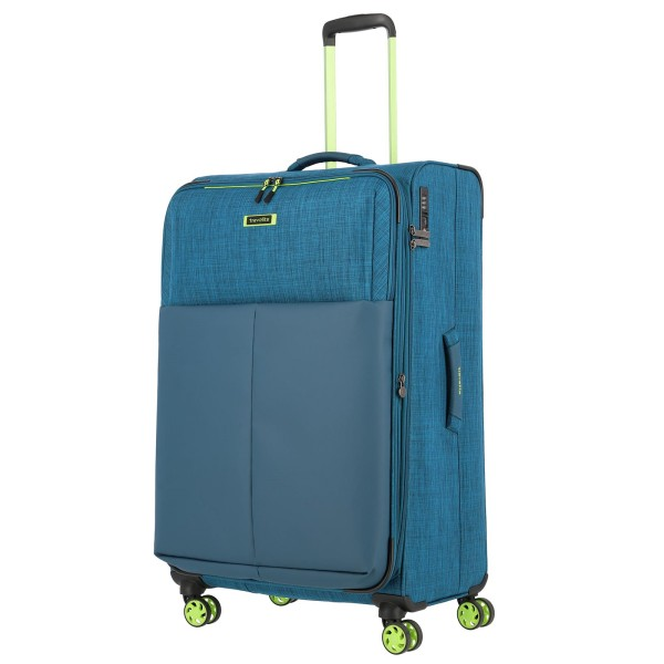 travelite Proof Trolley 78 cm 4 Rollen erweiterbar petrol