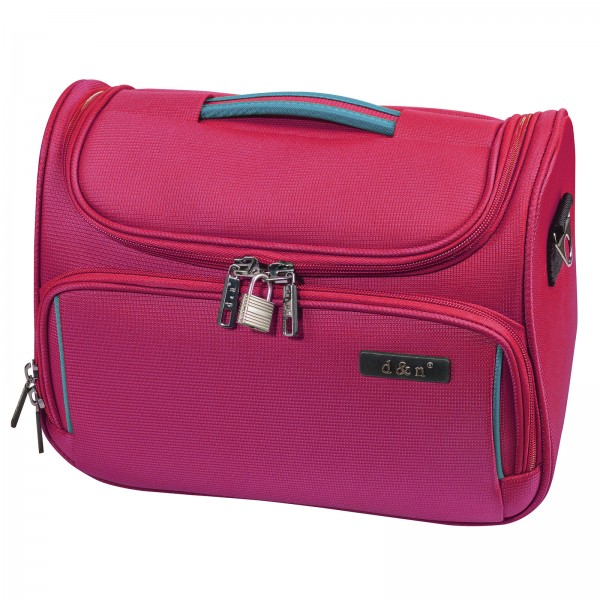 d&n Travel Line 7904 Beautycase 33 cm pink Frontansicht