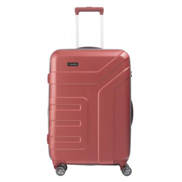 travelite Vector Trolley 70 cm 4 Rollen erweiterbar koralle - Frontansicht