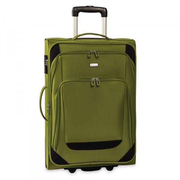 Fabrizio Airport Trolley grün 63 cm 4 Rollen erweiterbar olivgrün Frontansicht