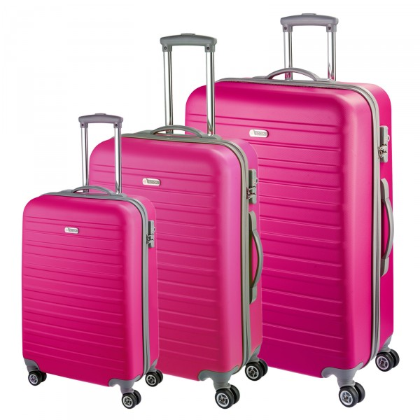 d&n Travel Line 9400 Kofferset 3-teilig pink