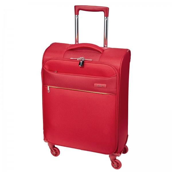 d&n Travel Line 6304 Trolley 55 cm 4 Rollen rot Frontansicht