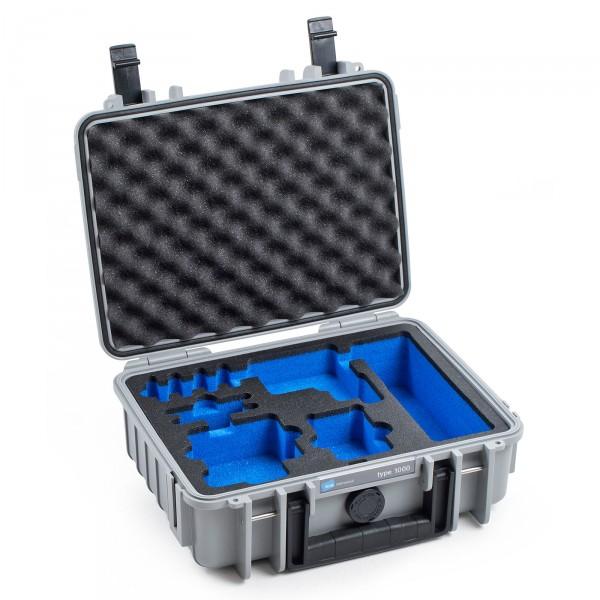 B&W GoPro Case Typ 1000 in grau für GoPro Hero 5 Front