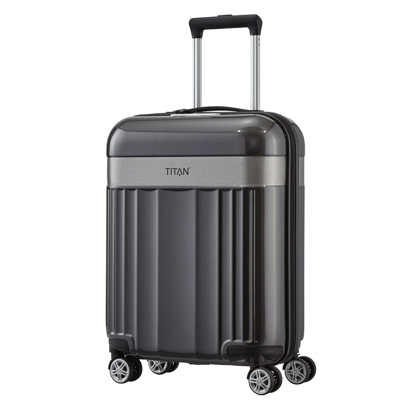 titan spotlight flash trolley 55 cm 4 rollen g nstig kaufen koffermarkt. Black Bedroom Furniture Sets. Home Design Ideas