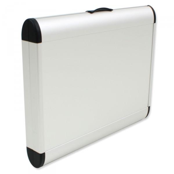 bwh Koffer AZKR Style Etui für iPad 25,5 cm silber - Frontansicht