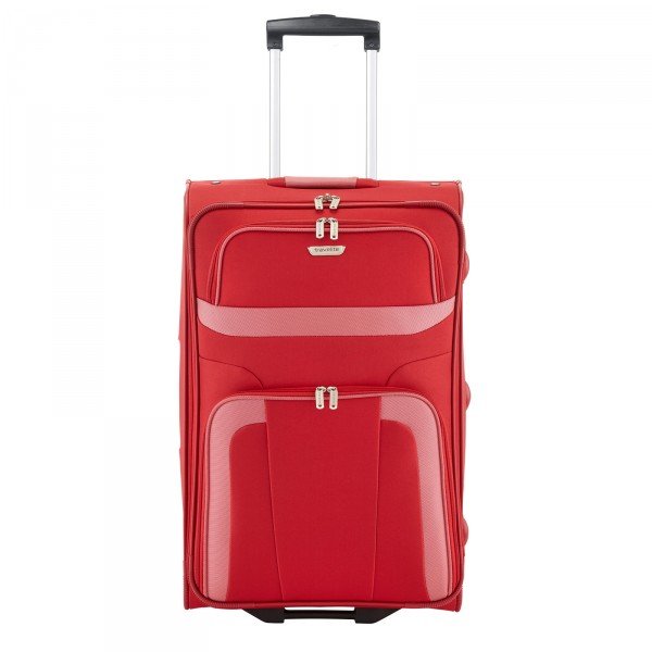 travelite Orlando Trolley 63 cm 2 Rollen rot Frontansicht