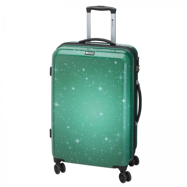 CHECK.IN Galaxy Trolley 69 cm 4 Rollen grün Frontansicht