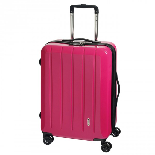 CHECK.IN London 2.0 Trolley 75 cm 4 Rollen erweiterbar pink Frontansicht