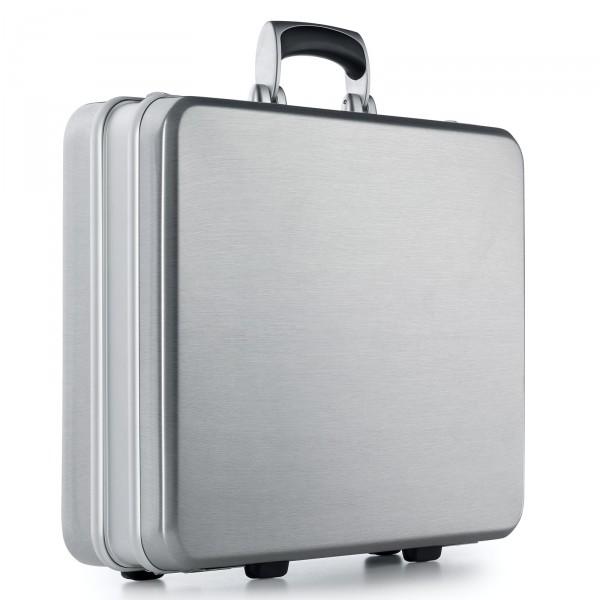bwh Koffer Aktenkoffer SKR Unique Case Typ 1 silbergrau - Vorderansicht