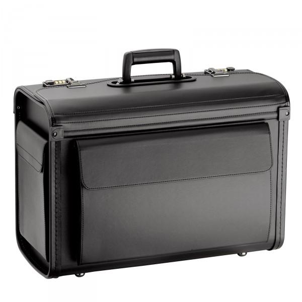 d&n Business & Travel Pilotenkoffer 46 cm schwarz - Frontansicht