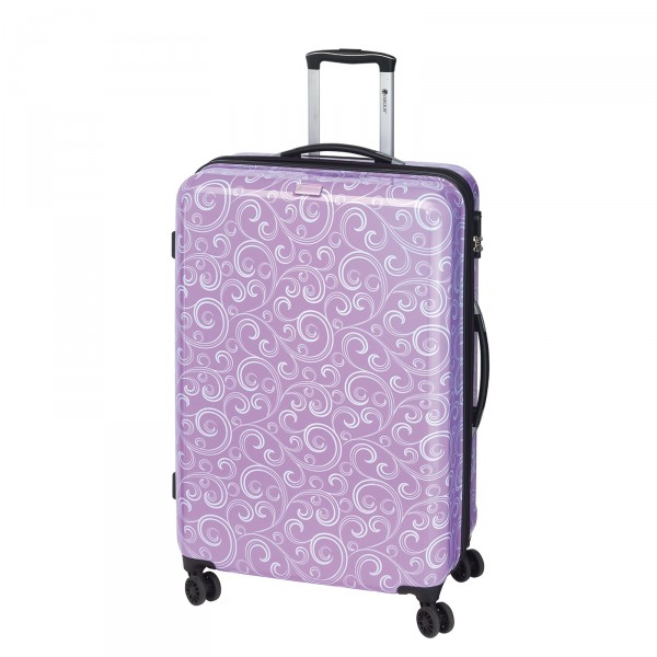 CHECK.IN Bombay Trolley 77 cm 4 Rollen lila Frontansicht