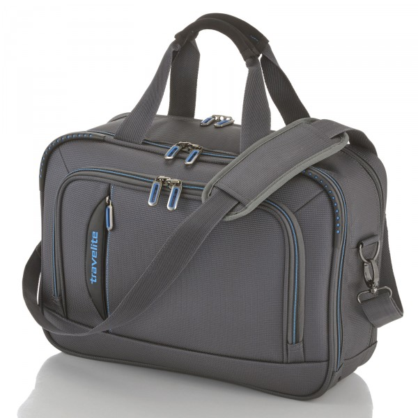 travelite CrossLITE Bordtasche anthrazit - Frontansicht