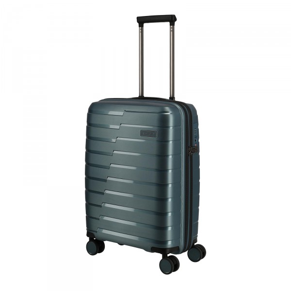 travelite Air Base Kabinentrolley 55 cm 4 Rollen eisblau