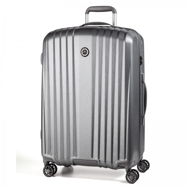 March15 Everest Trolley 77 cm 4 Rollen silver  brushed Frontansicht