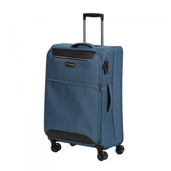 March15 Flybird Modell 2018 Trolley 67 cm 4 Rollen erweiterbar omega blue Schrägansicht