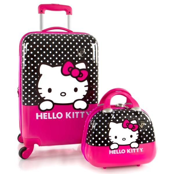 Heys Kids Trolley Hello Kitty 53 cm 2 Rollen und Beauty Case Hello Kitty pink