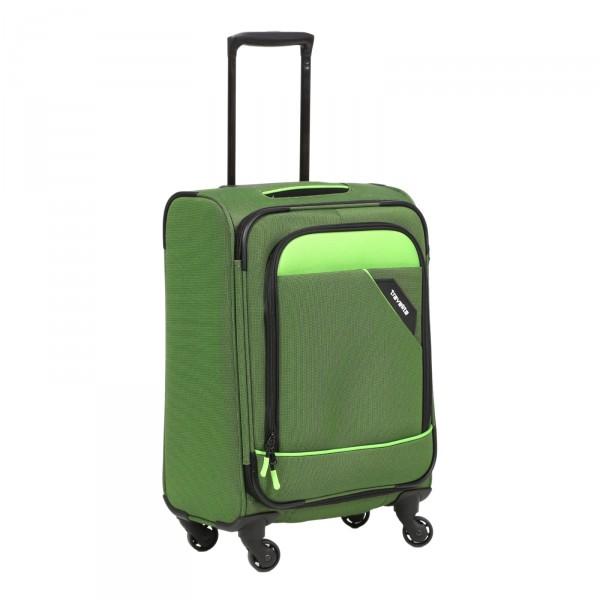 Travelite Derby Modell 2018 Trolley 55 cm 4 Rollen grün Schrägansicht