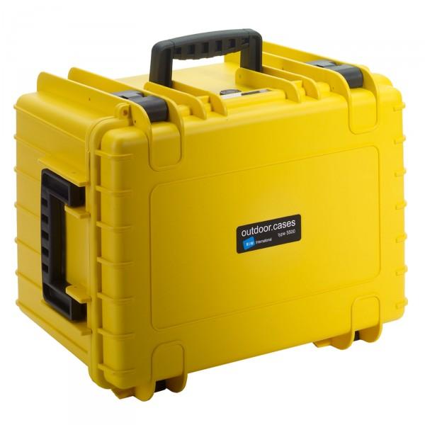 B&W Outdoor Case Typ 5500 gelb - Vorderansicht