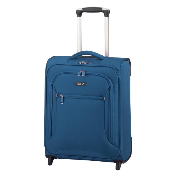 d&n Travel Line 6404 Kabinentrolley 49 cm 2 Rollen blau