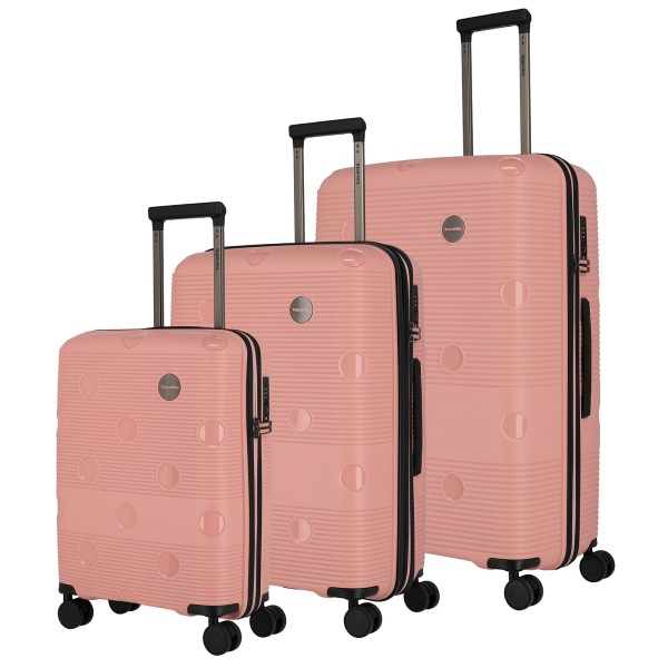 travelite Smarty Trolley Set 55/68/77 4 Rollen rosa