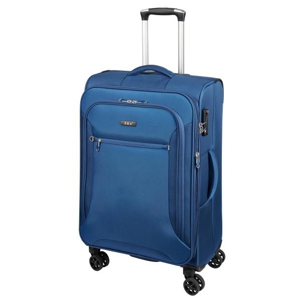 d&n Travel Line 6404 Trolley 68 cm 4 Rollen erweiterbar blau