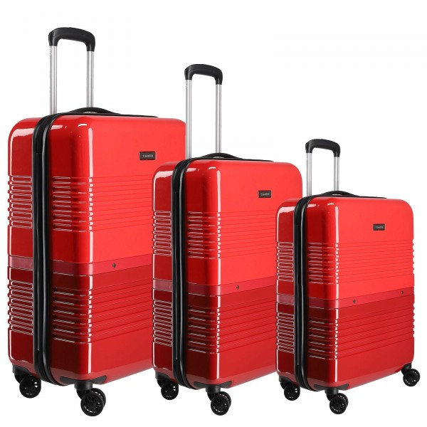 travelite Frisco Trolley Set 3-teilig rot