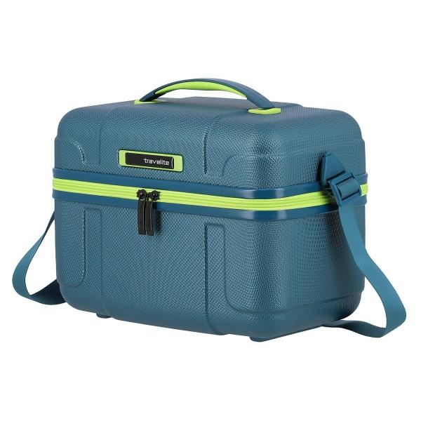 travelite Vector Beautycase 36 cm petrol/limone
