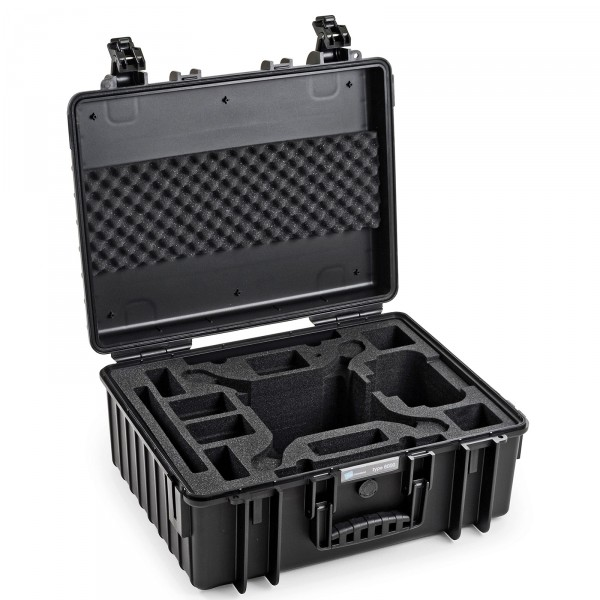 B&W Outdoor Case Typ 6000 Schwarz für DJI Phantom 4 / 4 Pro / 4 Pro Plus / 4 Advanced offen
