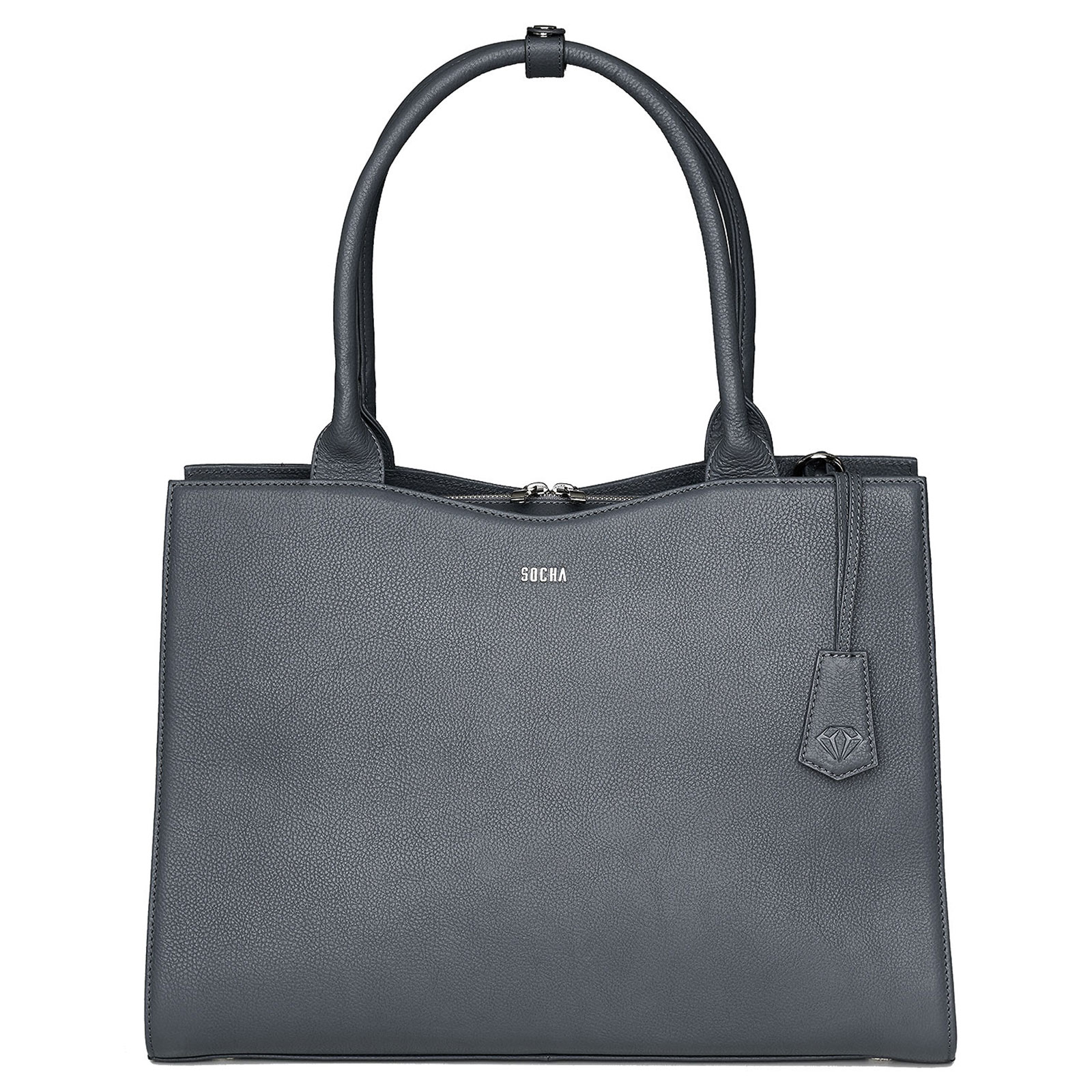 Aktentaschen SOCHA Diamond Bag Damen Handtasche 45 cm, Grau