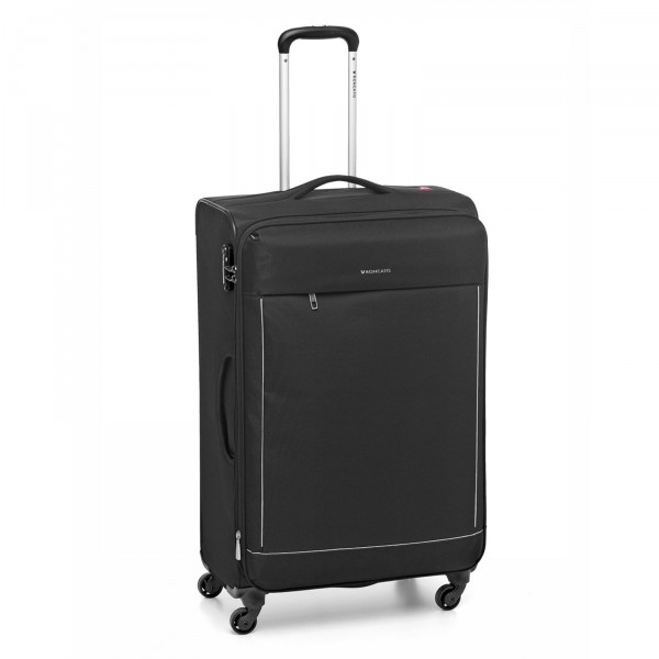 Roncato Connection Trolley 77 cm 4 Rollen erweiterbar nero - Frontansicht