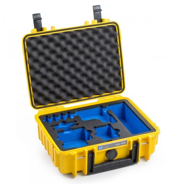 B&W GoPro Case Typ 1000 in gelb für GoPro Hero 5 Front