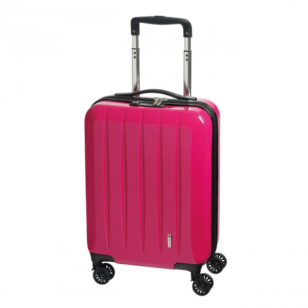 CHECK.IN London 2.0 Kabinentrolley 55 cm 4 Rollen pink Frontansicht