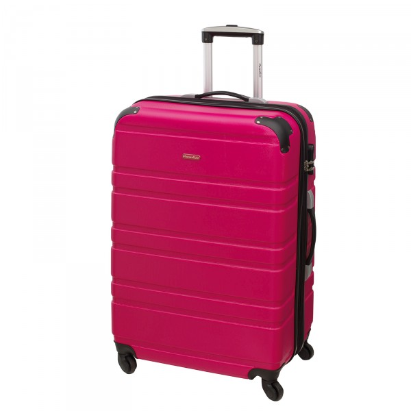 CHECK.IN Paradise Bern Trolley 67 cm 4 Rollen pink Frontansicht