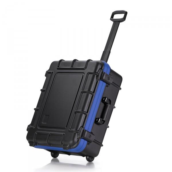bwh Koffer PowerPack Transportkoffer Typ 1 mit 2 Rollen schwarz Ansicht Tolleyfunktion