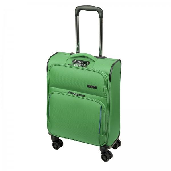 d&n Travel Line 7904 Kabinentrolley 54 cm 4 Rollen grün-petrol Frontansicht