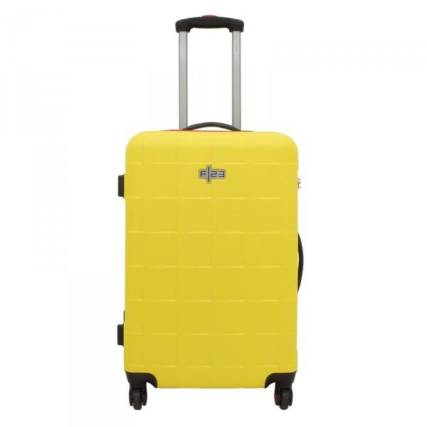 F23 Wave 2.0 Trolley 66 cm 4 Rollen gelb - Frontansicht