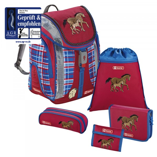 Step by Step Flexline Schulranzen-Set Horse Family 5-teilig