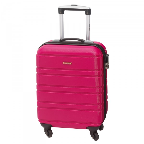 CHECK.IN Paradise Bern Kabinentrolley 55 cm 4 Rollen pink Frontansicht