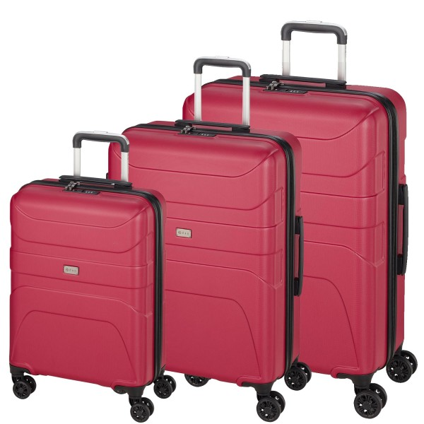 d&n Travel Line 2100 Trolley-Set 3-teilig 4 Rollen pink