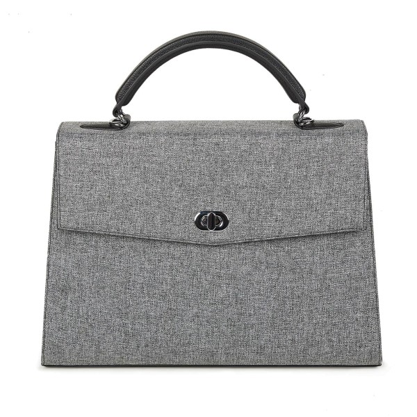 SOCHA Business-Handtasche Audrey Tweed 40 cm grau
