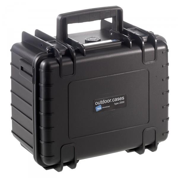 B&W Outdoor Case Typ 2000 schwarz - Vorderansicht