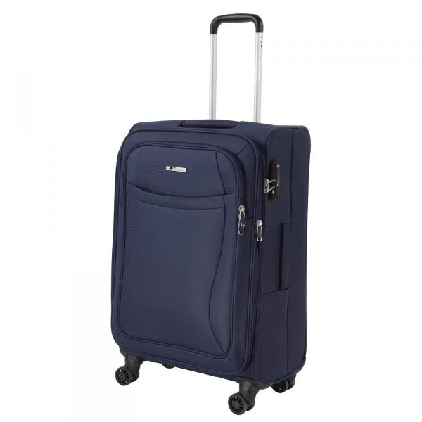 cocoono Ipack classic II Trolley 60 cm 4 Rollen erweiterbar dunkelblau Schrägansicht
