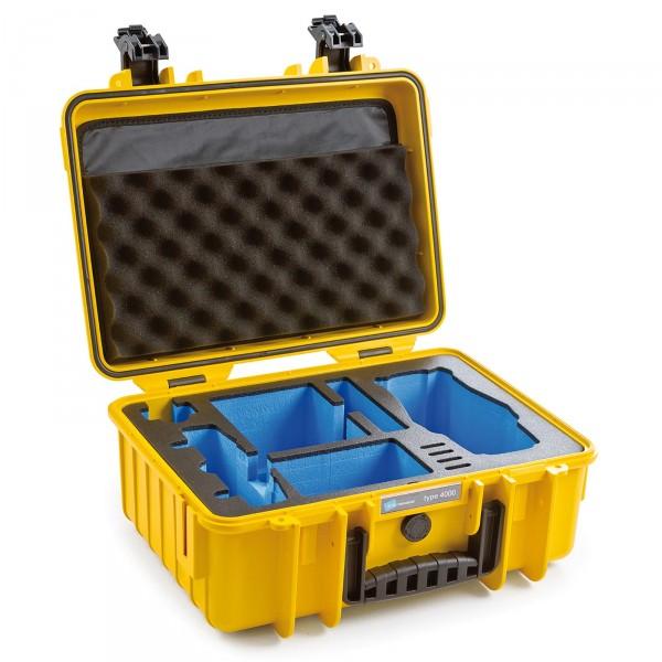 B&W Copter Case Typ 4000 für DJI Mavic 2 (Pro/Zoom) + DJI Smart Controller yellow