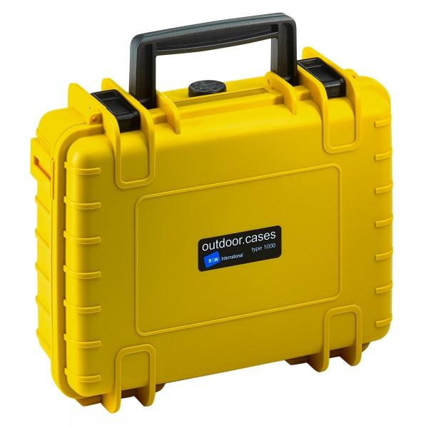 B&W Outdoor Case Typ 1000 gelb - Vorderansicht