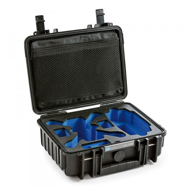 B&W Copter Case Typ 1000 für DJI Spark schwarz offen leer
