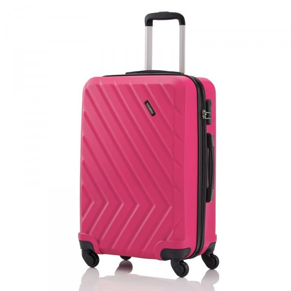 travelite Quick Trolley 64 cm 4 Rollen pink