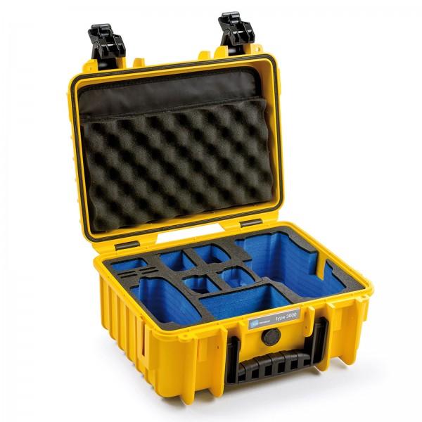 B&W Copter Case Typ 3000 für  DJI Mavic 2 (Pro/Zoom) gelb  Innen leer