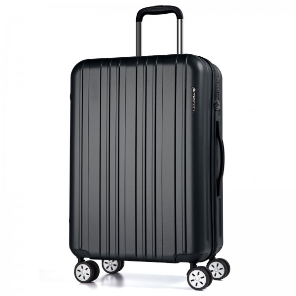 March15 Omega Trolley 67 cm 4 Rollen black Frontansicht