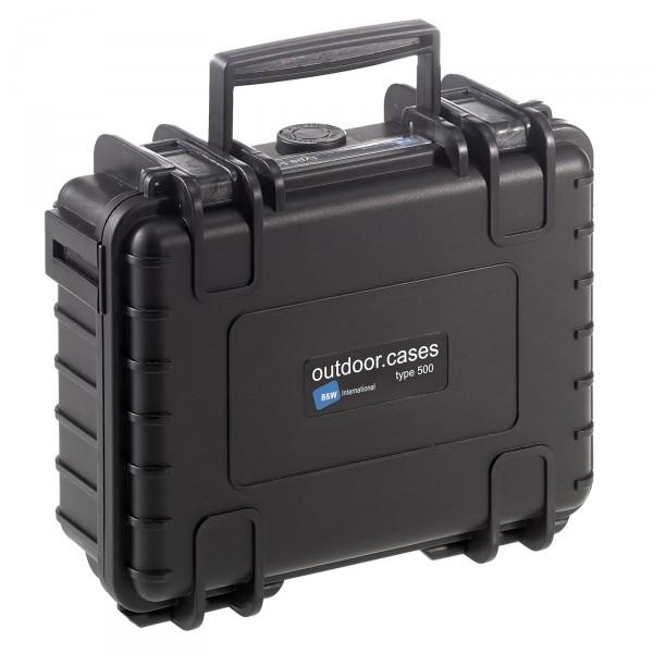 B&W Outdoor Case Typ 500 schwarz - vorderansicht