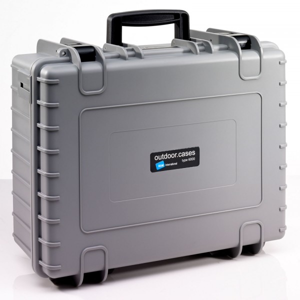 B&W Outdoor Case Typ 6000 grau - Vorderansicht
